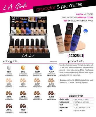 LA Girl PRO.Color & PRO.Matte Display - 84pcs