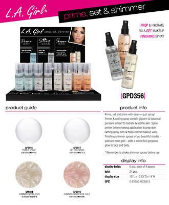 LA Girl Prime, Set & Shimmer Spray Display - 24pcs