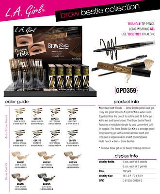 LA Girl Brow Bestie Collection Display - 102pcs