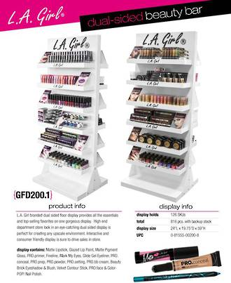 LA Girl 2 Sided Beauty Bar Display