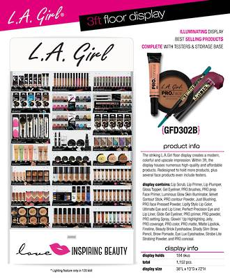 LA Girl 3ft Floor Display