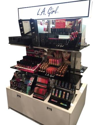 LA Girl White Display Stand