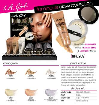 LA Girl Luminous Glow Display - 36pcs