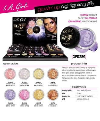 LA Girl Glowin' Up Highlighting Jelly Display - 24pcs