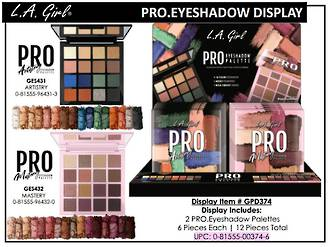 LA Girl Pro Eyeshadow Palette Display - 12pcs