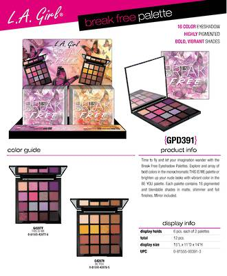 LA Girl Break Free Display - 12pcs