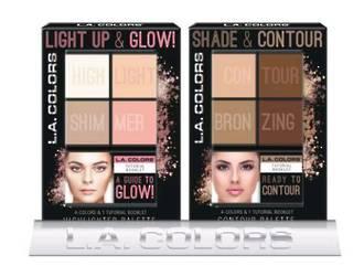 L.A. Colors Holiday Set - 4 Color Light Up & Glow Palette6pc