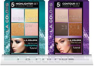 L.A. Colors Holiday Set - Highlight/Contour Palette 8pcs