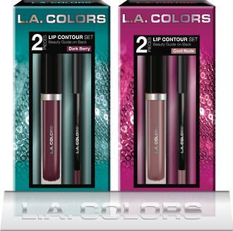 L.A. Colors Holiday Set - 2pc Lip Color + Lipliner Kit 8pcs