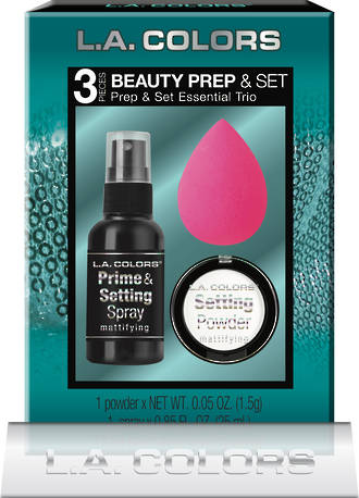 L.A. Colors Holiday Set - 3pc Prep & Set 6pcs