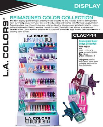 LA Colors Reimagined Color Polish Collection - 162pcs