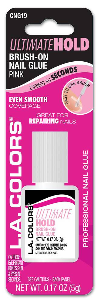 LA Colors Ultimate Hold Brush on Nail Glue - Pink