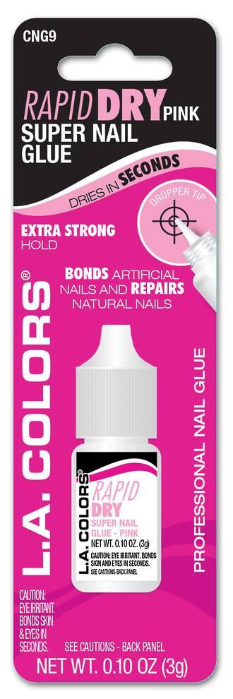 LA Colors Rapid Dry Nail Glue - 3g Pink
