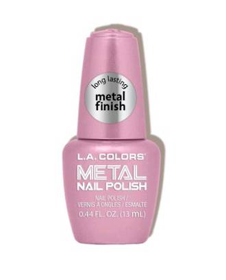 LA Colors Metal Nail Polish - Crystal Pink