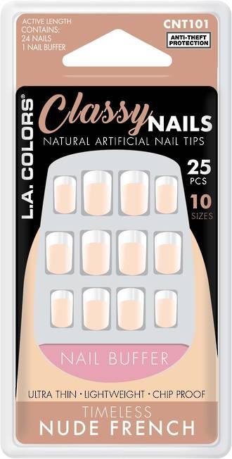 LA Colors 25pc Artificial Nails - Timeless Nude