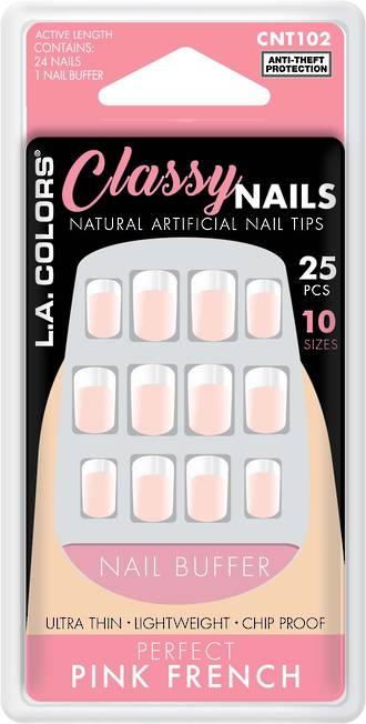 LA Colors 25pc Artificial Nails - Perfect Pink