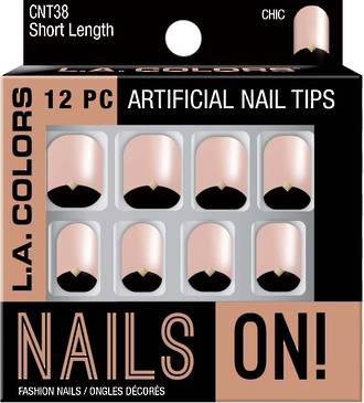 LA Colors Artificial Nail Tips - Chic