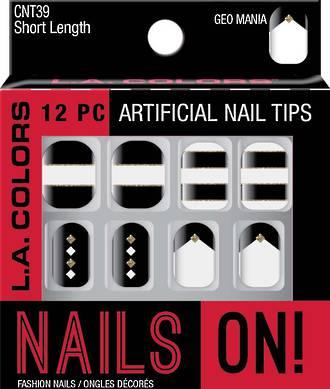 LA Colors Artificial Nail Tips - Geo Mania