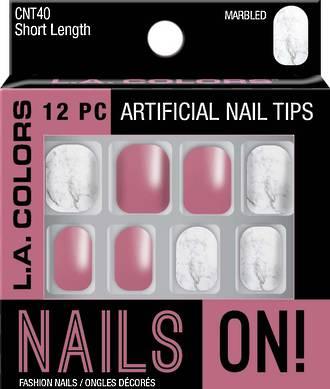 LA Colors Artificial Nail Tips - Marbled