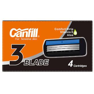 Canfill 3 Blade Razor - Refill 4pc