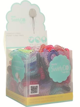 Lindo Swirlydo Small Hair Ties Display - 144pcs