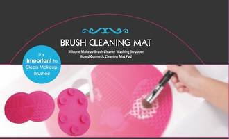 Suction Makeup Brush Cleaner - Display 12pcs