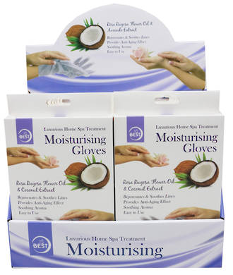 Moisturising Hand Mask Display - 12pcs