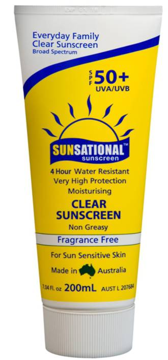 Sunsational 50+ Clear Sunscreen - 200ml