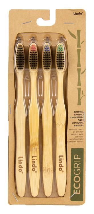 EcoGrip Bamboo Toothbrush (4pk)