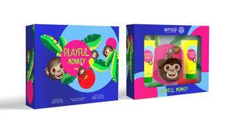 Emoji Playful Monkey 3pc Gift Set