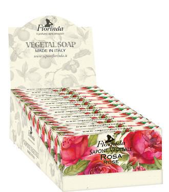 Rose Soap Display 100g - 12pcs