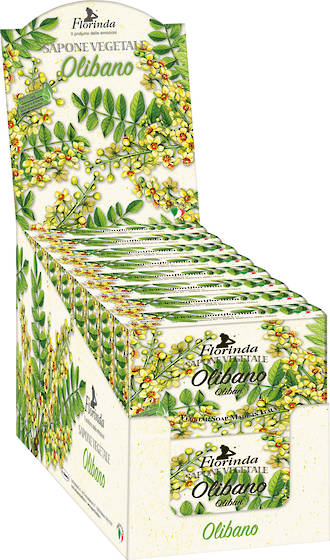 Oliban (Frankincense) Soap Display 200g - 16pcs