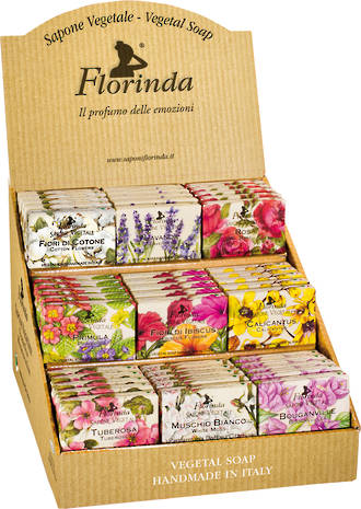 Florinda 50g Floral Soap Display - 45pcs