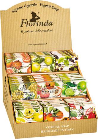 Florinda 50g Fruit Soap Display - 45pcs