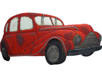 Morris Minor Wall Decal Large - Red