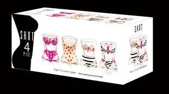 Bikini Shot Glasses Set of 4