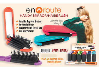 En Route Mirror Hairbrush Display - 24pcs