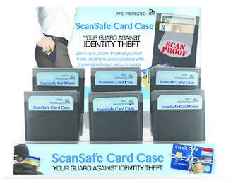 ScanSafe Card Case for Men - Display 24pcs