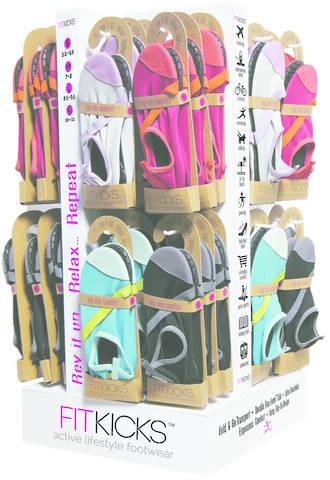 Fitkicks Active Lifestyle Footwear Ladies - Display 48pcs