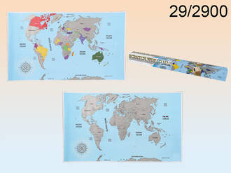 World Map for Scratching
