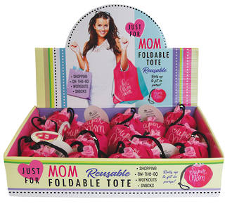Just For Mom Folding Tote Bag Display - 24pcs
