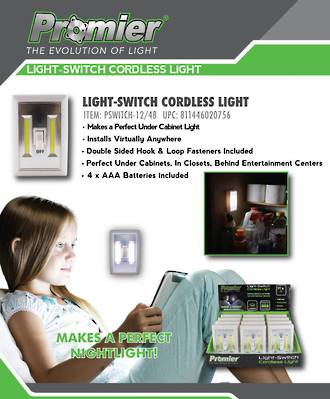 Light-Switch Cordless Light