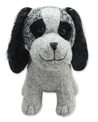 Door Stop - Light Grey Dog