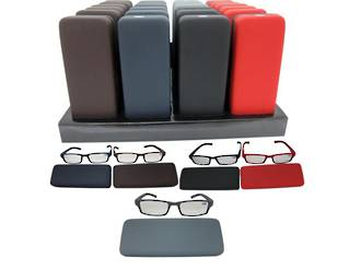 Coloured Reading Glasses in Hard Case Display