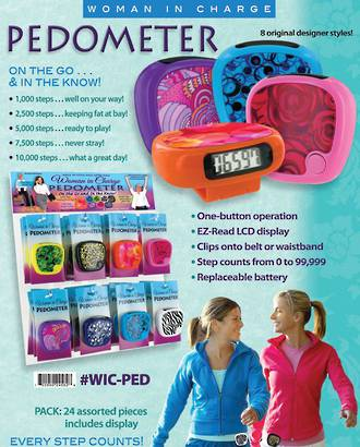 Woman In Charge Pedometer Display - 24pcs
