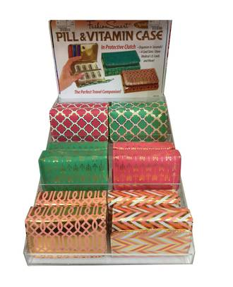 Fashion Smart Pill & Vitamin Case Display - 24pcs