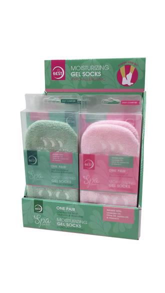 Spa Gel Socks Display - 12pcs
