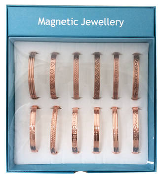 Magnetic Copper Bangle Display