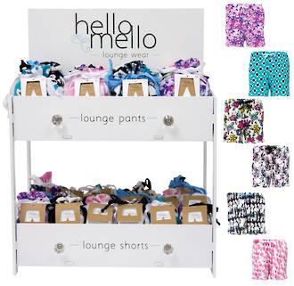 Hello Mello Lounge Shorts Display - 36pcs
