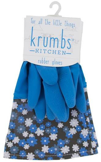 Krumbs Kitchen Rubber Gloves Display - 24pcs